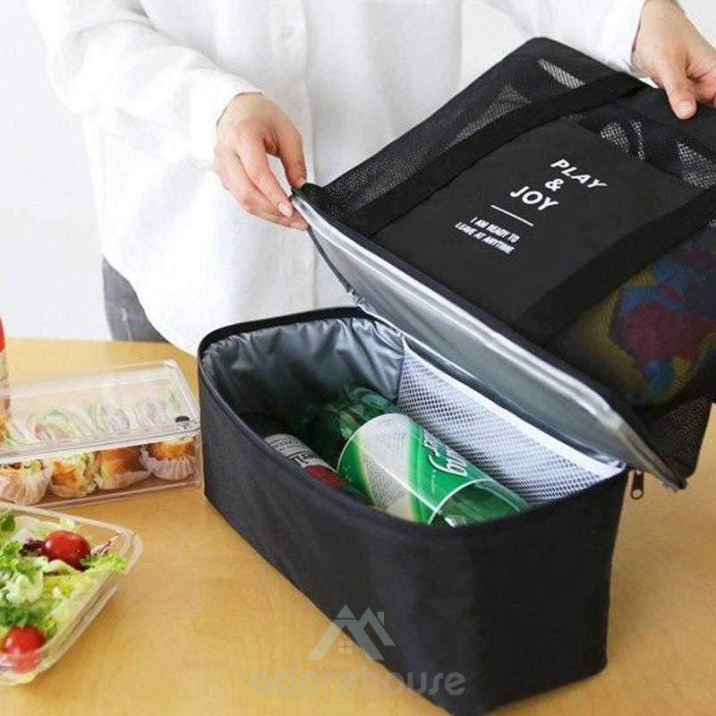 Reusable Double Layer Nylon Lunch Bag-Lunch Bag-Adorehouse.com