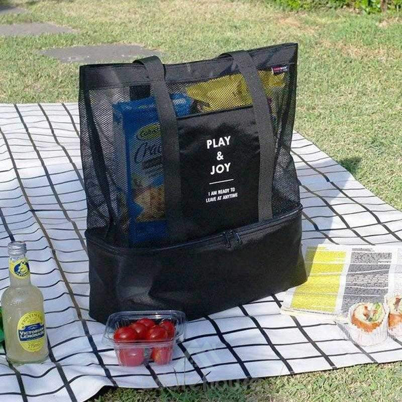 Reusable Double layer Picnic Hiking Nylon Lunch Bag Lunch Box-Lunch Bag-Adorehouse.com