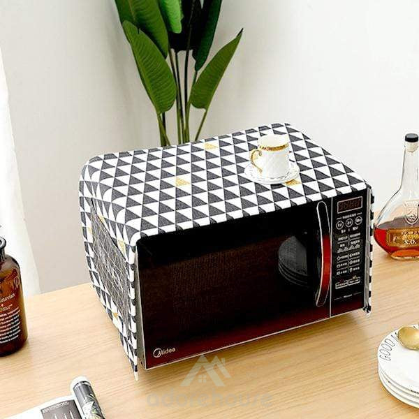 Microwave Oven Dustproof Cover with Storage Pockets-Tablecloth-Adorehouse.com