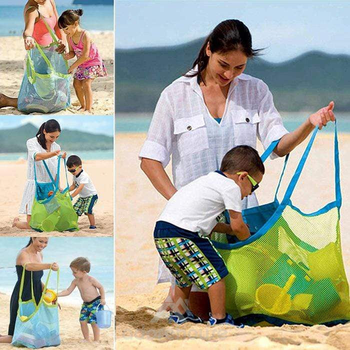 Foldable Mesh Beach Kids Toy Storage Bag-Sports & Leisure-Adorehouse.com
