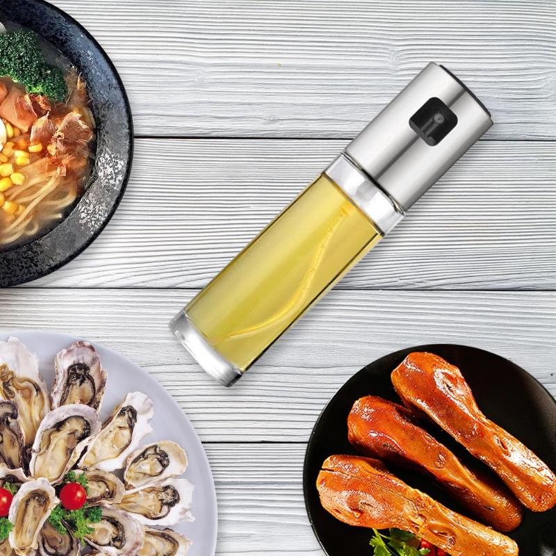 Olive Oil Vinegar Sprayer Oil Spray Bottle BBQ Kitchen Tool