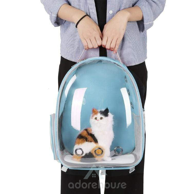 Space Capsule Design Breathable Portable Pet Backpack-Cats-Adorehouse.com