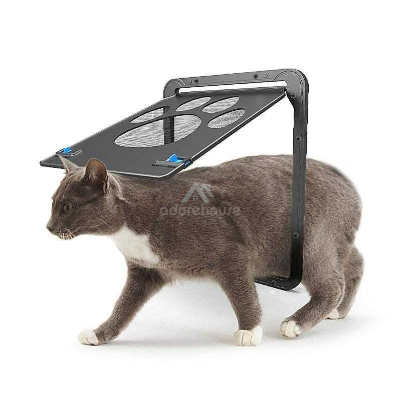 Magnetic Flap Screen Automatic Lockable Pet Gate-Cats-Adorehouse.com
