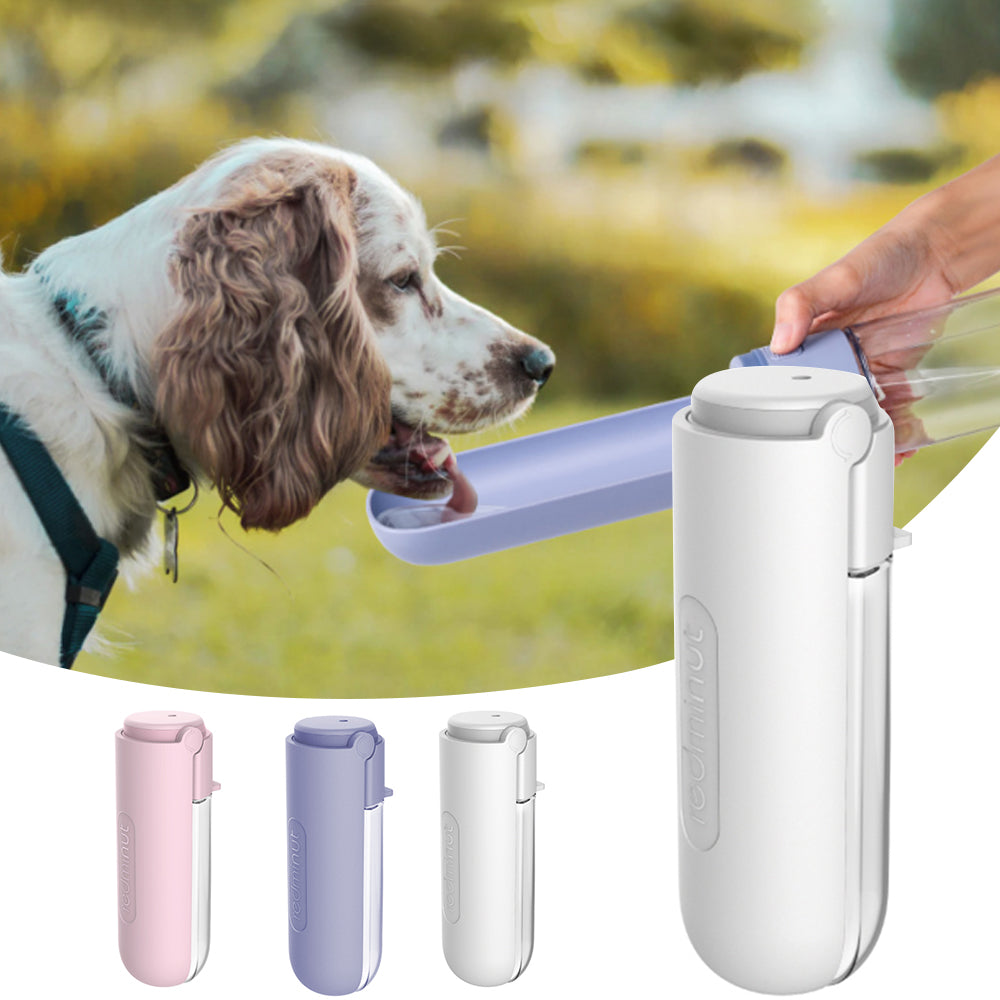 Pet Dog Water Bottle Portable Drinking Water Feeder Bowl