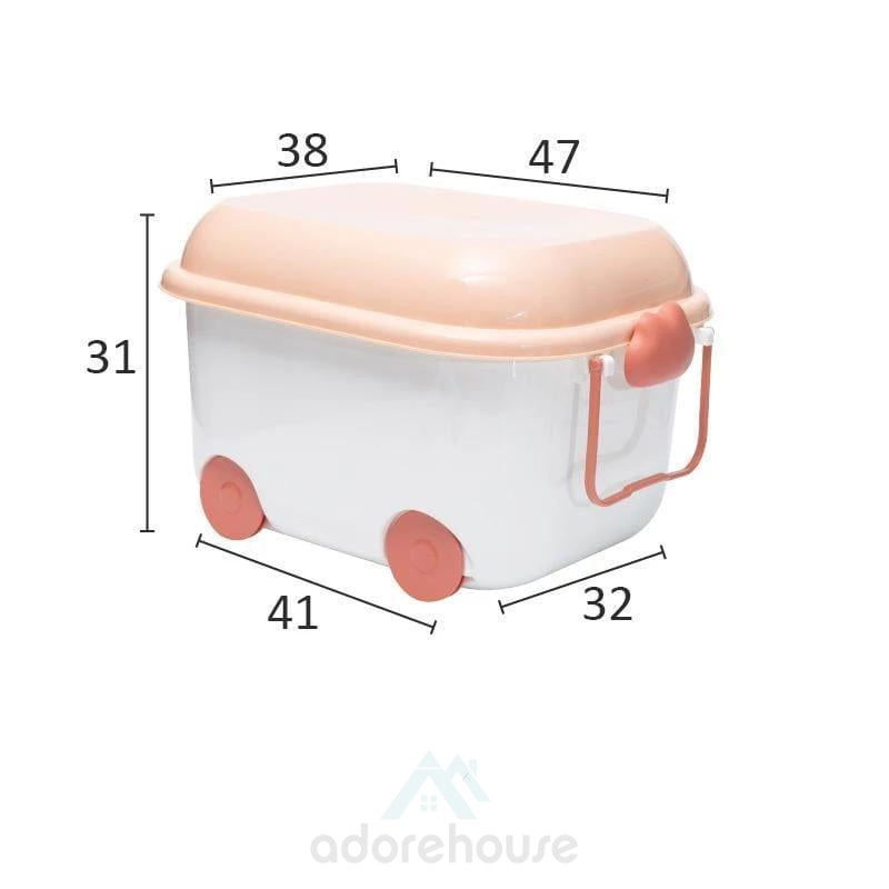 Cute Pulley Ctrative Trunk Storage Box-Clothes & Quilts Storage-Adorehouse.com