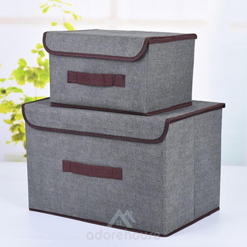 Washable Multifunction Cotton Storage Basket-Clothes & Quilts Storage-Adorehouse.com