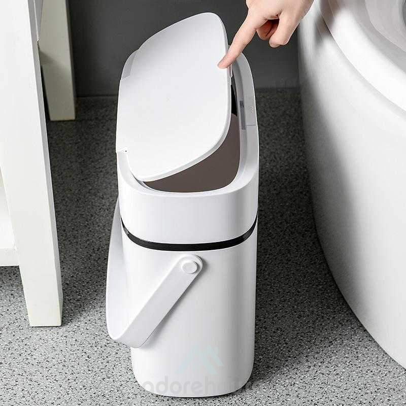 Portable Push-Type Covered Trash Can-Household Storage-Adorehouse.com