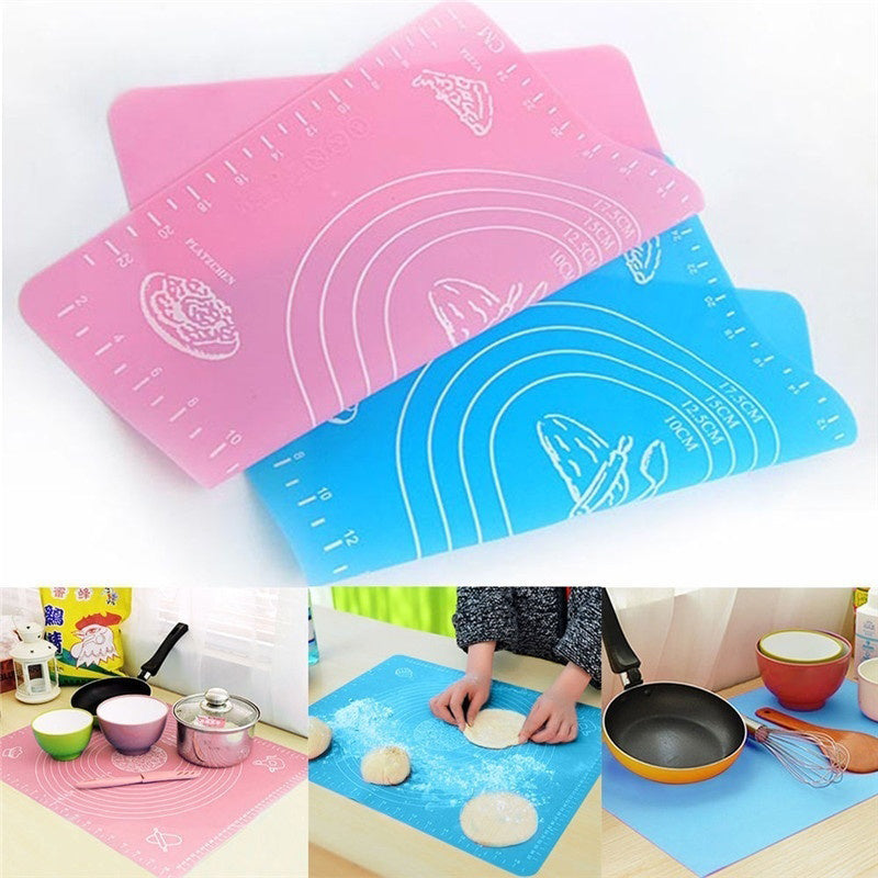 Thicken Silicone Kneading Dough Mat Scale Non-Stick Kitchen Baking Tool