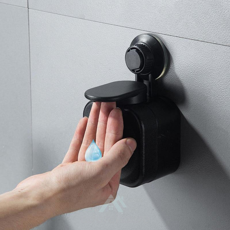 Wall-mounted Soap Dispenser Liquid Hand-pushed Dispenser Bathroom Hand Washer-Bed & Bath-Adorehouse.com