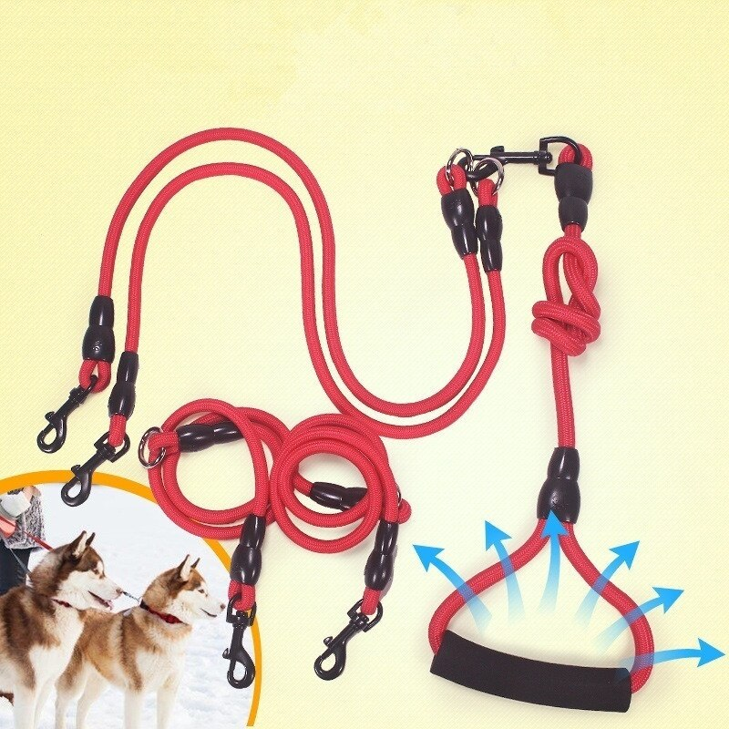 Pet Traction Rope  for 2 or 3 or 4 Dogs