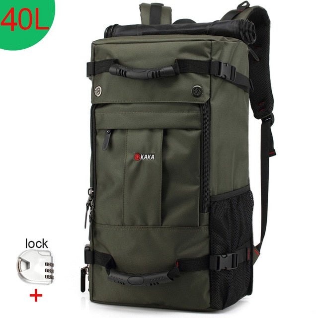 Adhorehouse 50L Waterproof Travel Backpack Multifunction Laptop Backpacks