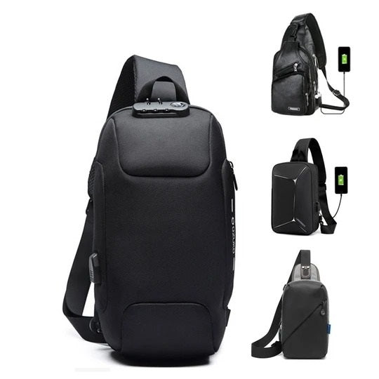 Male Anti-theft Shoulder Messenger Bags Multifunction Crossbody Bag