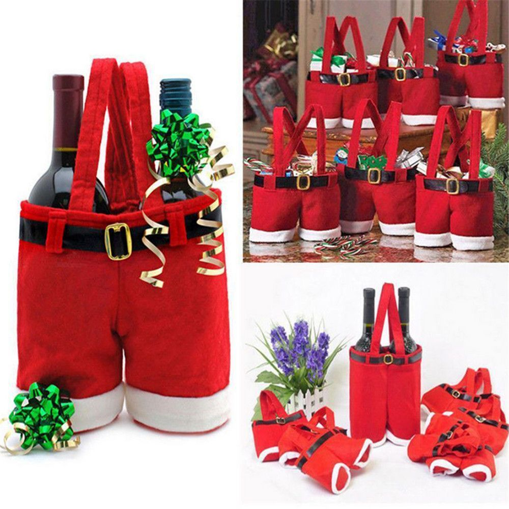 Cute 1Pcs Merry Christmas Gift Treat Candy Wine Bottle Holder
