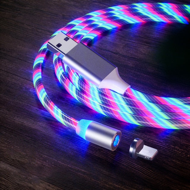 Flowing Light Magnetic charging Mobile Phone Cable