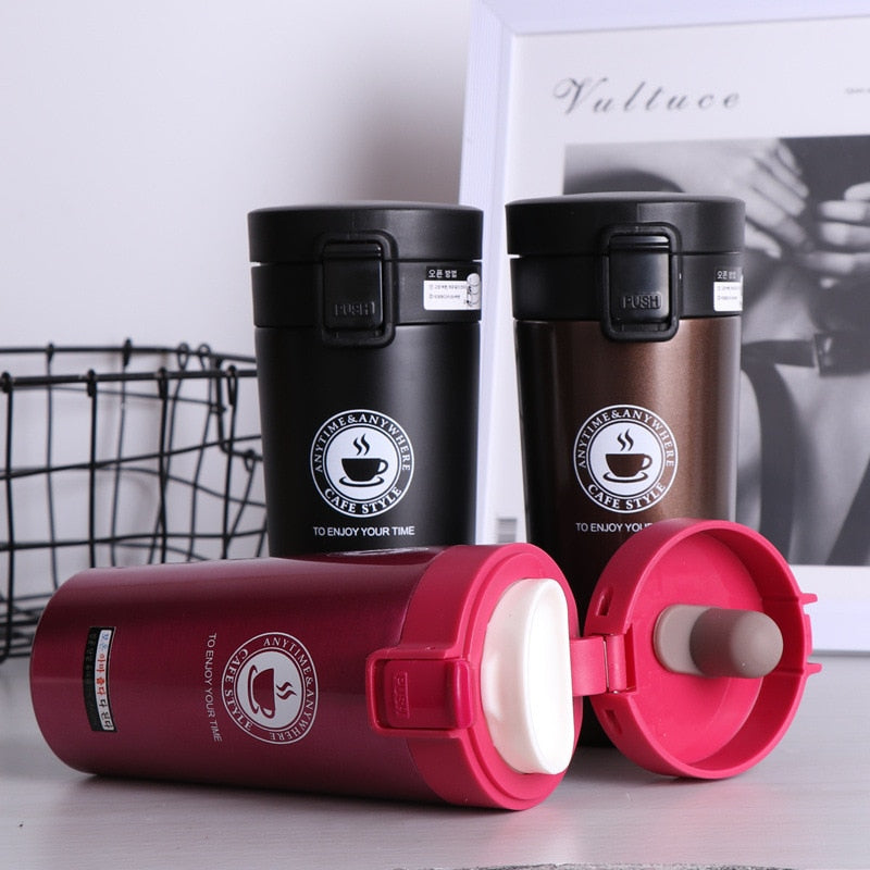 Premium Travel Coffee Mug Stainless Steel Thermos Tumbler Cups