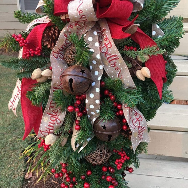 Christmas Ornament Swag Wreath Ribbon Pine