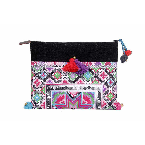 Bright Cross Stitch Star Clutch - Thailand-Shop All-Lumily