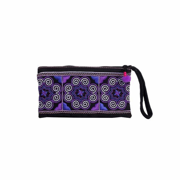 Suzanna Embroidered Coin Purse / Wristlet (Pink) - Thailand