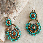 Chloe Seed Bead Earrings - Guatemala-Shop All-Lumily