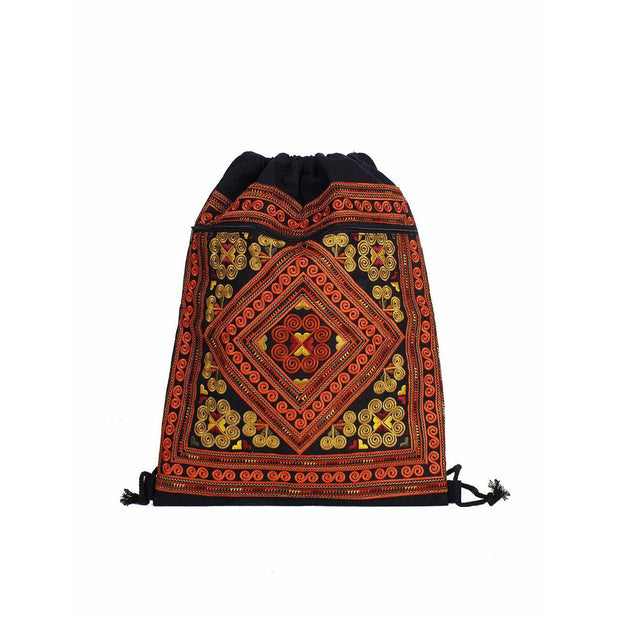 Geometric String Pull Backpack - Thailand-Bags-Lumily