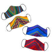 2-Pack Starburst Curved Face Mask with Filter Pocket - Guatemala-Apparel-Lumily