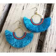 Half Moon Tassel Earrings (1 Color) - Thailand