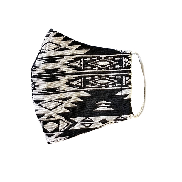Tribal Geometric Face Mask with Filter Pocket - Thailand-Apparel-Lumily