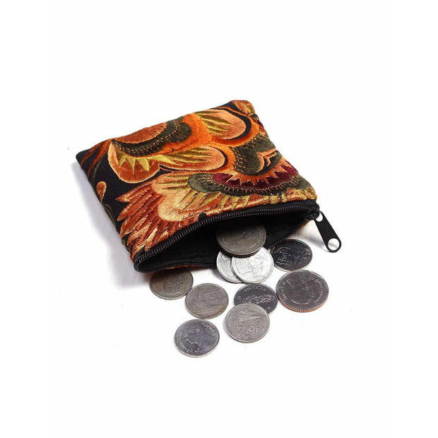 Birdsong Embroidered Tiny Coin Purse - Thailand (Assorted)