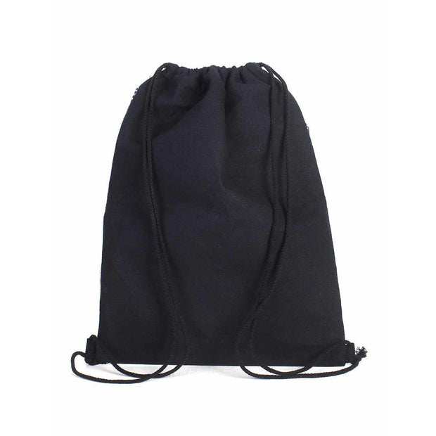 Geometric Pull-String Everyday Embroidered Backpack - Thailand-Bags-Lumily