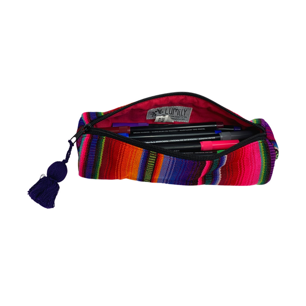 Hacienda Multicolor Sarape Pencil Case - Guatemala-Shop All-Lumily