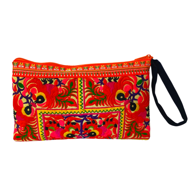 Prani Embroidered Hmong Wristlet - Thailand-Shop All-Lumily