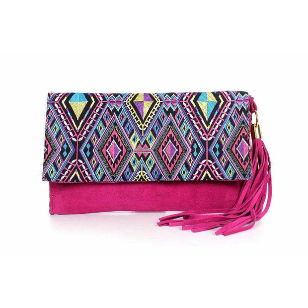 Artisan Crafted Geometric Clutch Bag- Thailand-Bags-Lumily