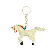 Unicorn Seed Bead Keychain - Guatemala-Shop All-Lumily