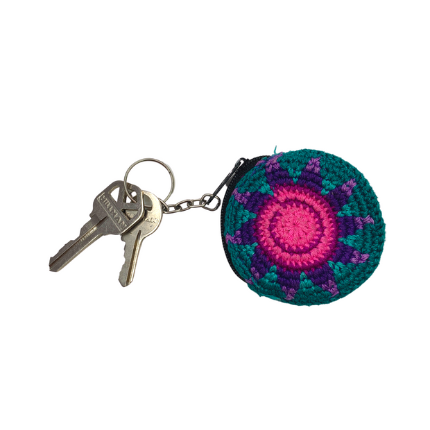 Earbud Crochet Key Chain - Guatemala-Shop All-Lumily