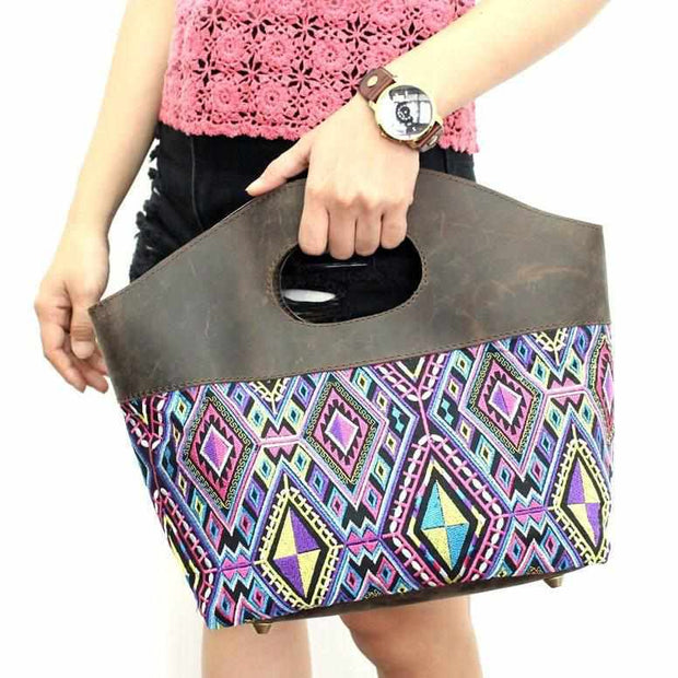 Geometric Tote Bag - Thailand-Bags-Lumily