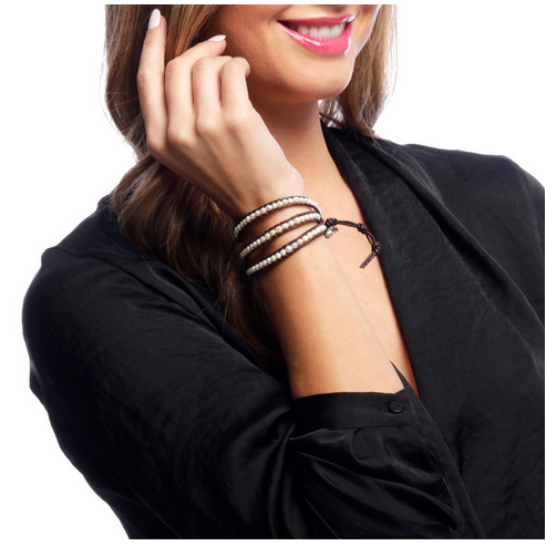 Leather & Beads Three Wrap Bracelet - Thailand-Shop All-Lumily