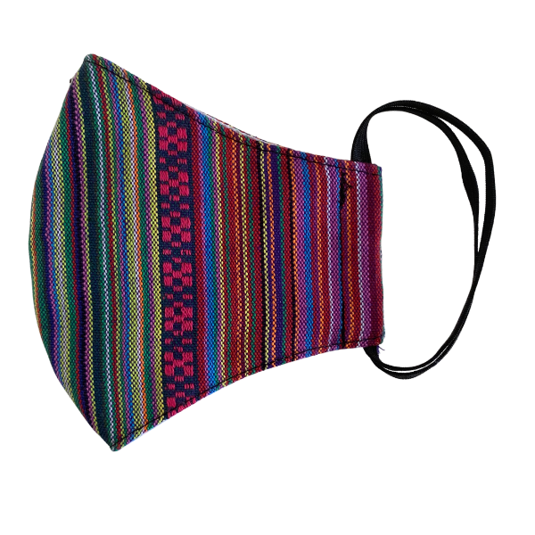 Sustainable Multicolor Face Mask with Filter Pocket - Guatemala-Apparel-Lumily