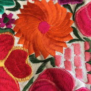 Flower Fields Embroidered Pillow Cover - Guatemala