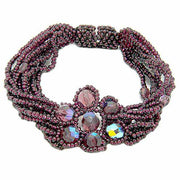 Flower Bracelet with Magnetic Closure - Guatemala-Jewelry-Lumily