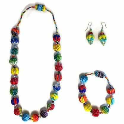 Shiva Magnetic Seed Bead Necklace - Guatemala-Shop All-Lumily