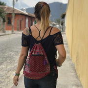 Salsera Up-cycled Corte Backpack - Guatemala-Shop All-Lumily