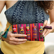 Woven Worry Doll Multicolor Pouch - Guatemala-Shop All-Lumily