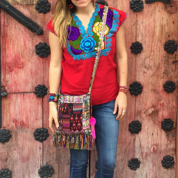 Samara Up-cycled Huipil Corte Purse - Guatemala-Shop All-Lumily