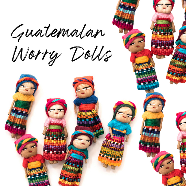 Worry Doll Crochet Pouch - Guatemala-Shop All-Lumily