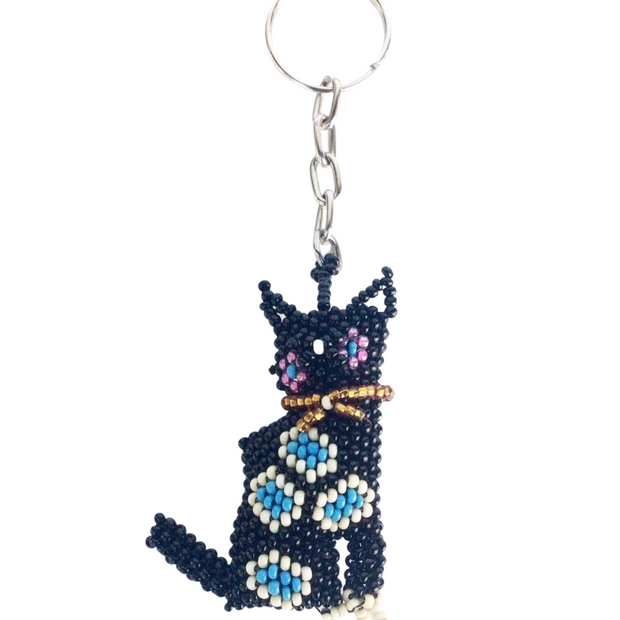 Cat Key Chain - Guatemala-Shop All-Lumily
