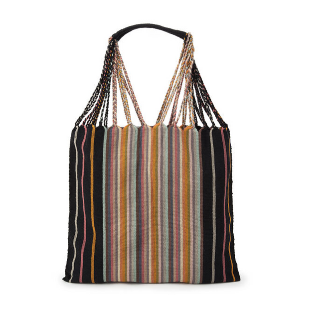 Poppy Woven Striped Tote / Hammock Bag - Mexico-Shop All-Lumily
