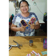 Huipil Up-cycled Luggage Tag - Guatemala-Shop All-Lumily