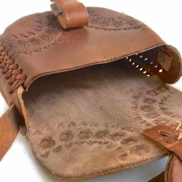 Alicia Leather Stamped Purse - Mexico-Shop All-Lumily Fair Trade