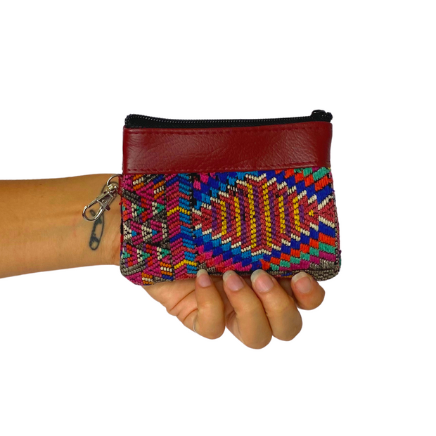 Ana Vegan Leather Coin Purse - Guatemala-Shop All-Lumily