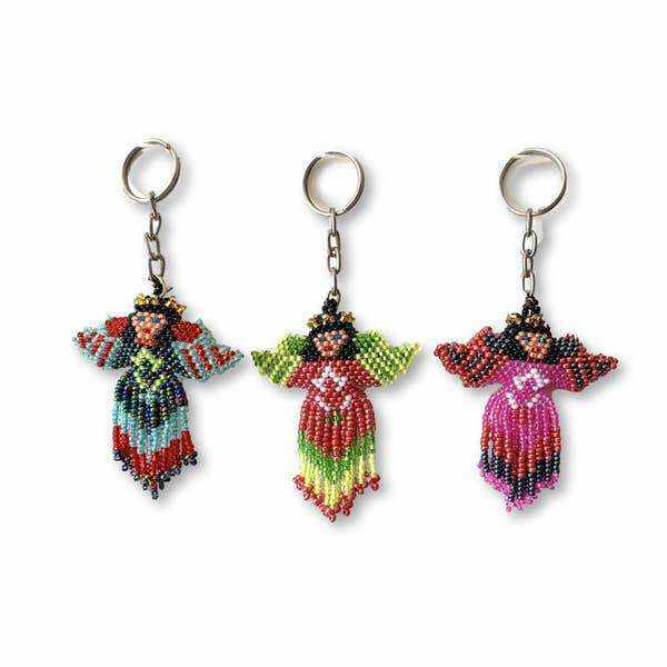 Angel Beaded Key Chain - Guatemala-Shop All-Lumily